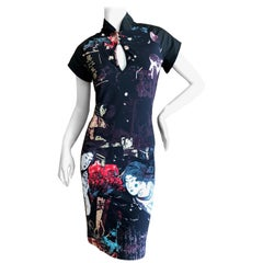 Roberto Cavalli Geisha Print Cheongsam Style Dress for Just Cavalli