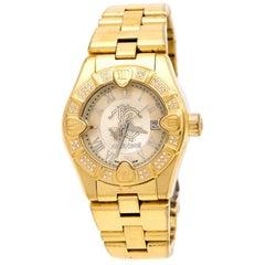 Roberto Cavalli Gold Plated 'Diamond Time' 7253116565 Women's Wristwatch 38 mm