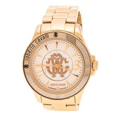 Roberto Cavalli Gold Plated Stainless Steel RV1L001M0036 Women's Wristwatch 41 m