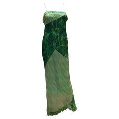 Roberto Cavalli Green Evening Gown