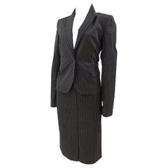 Roberto Cavalli grey bronze skirt suit