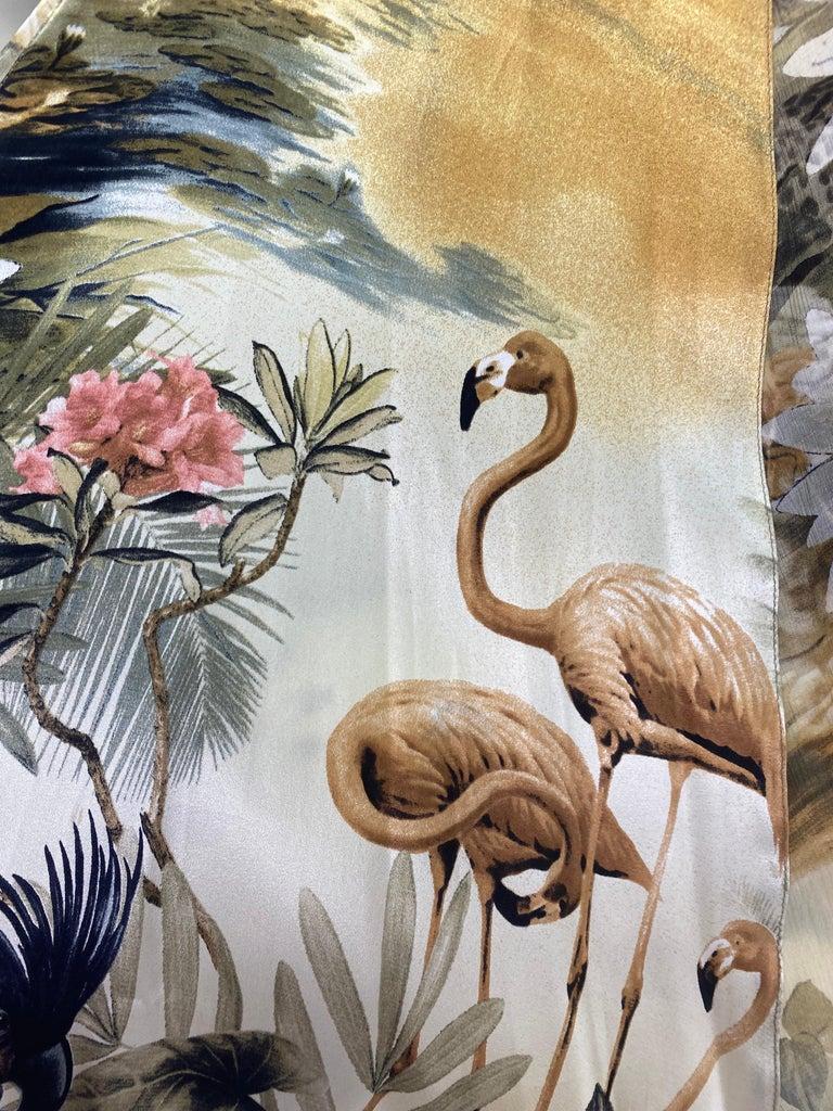 Roberto Cavalli Jungle Print Silk Gown For Sale 5