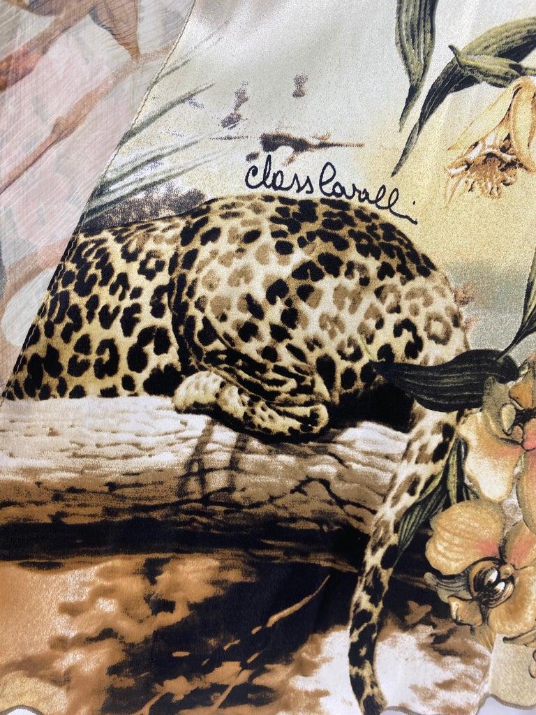 Roberto Cavalli Jungle Print Silk Gown For Sale 6