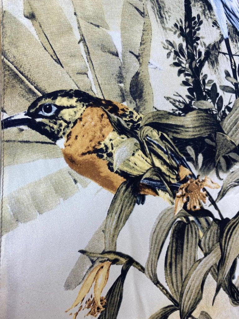 Roberto Cavalli Jungle Print Silk Gown For Sale 7