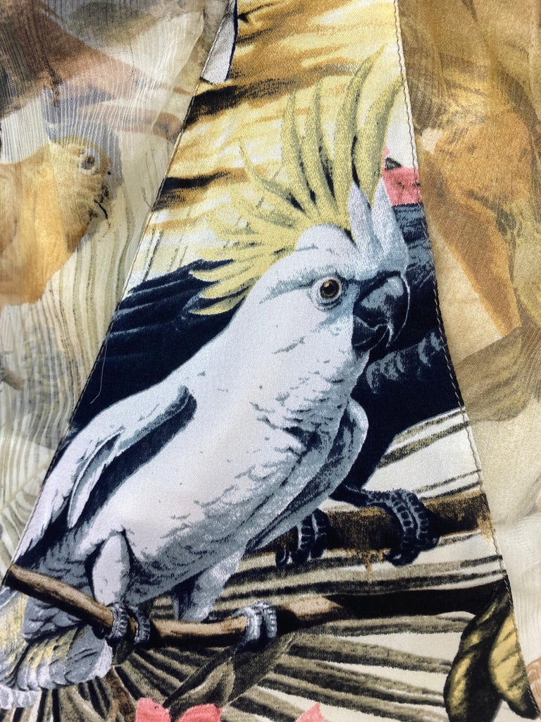 Roberto Cavalli Jungle Print Silk Gown For Sale 8