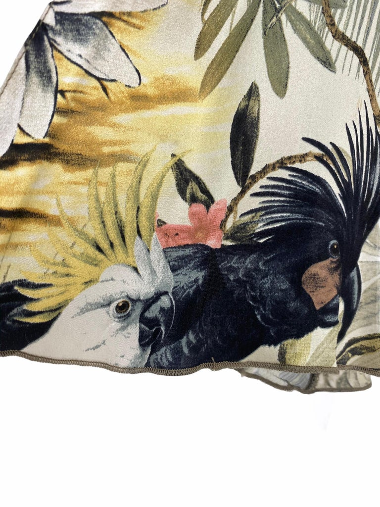 Roberto Cavalli Jungle Print Silk Gown For Sale 1