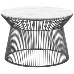 Roberto Cavalli Large Wire 2 Outdoor Side Table in Marble Top with Metal Base