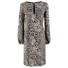 Roberto Cavalli Leopard Face Print Dress - Size US 4