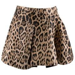 Roberto Cavalli Leopard Print A-Line Mini Skirt 38