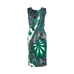 Roberto Cavalli Multicolor Printed Contrast Paneled Sleeveless Dress S