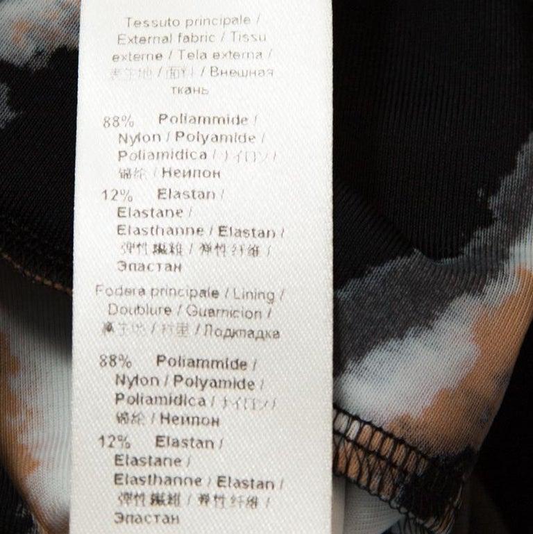 Women's Roberto Cavalli Multicolor Stretch Jersey Draped V Neck Maxi Dress S For Sale