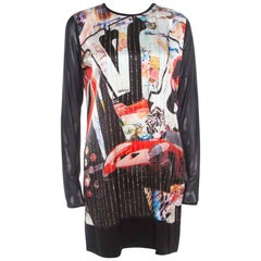 Roberto Cavalli Multicolor Vintage Pop Art Printed Silk Shift Dress M