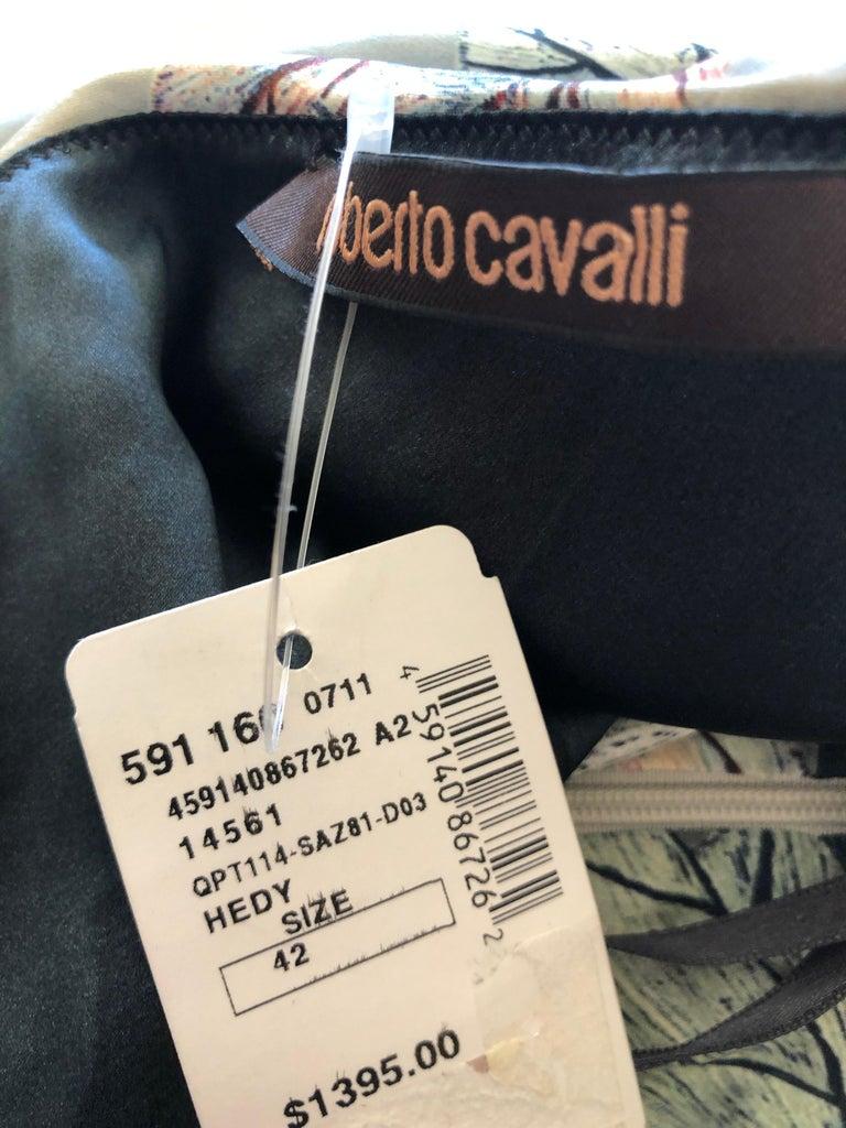 Roberto Cavalli One Shoulder Silk Cocktail Dress New For Sale 2
