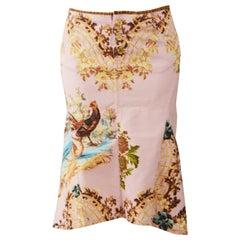 Roberto Cavalli Pink Denim Skirt S