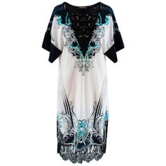Roberto Cavalli Printed Embroidered Shift Dress - Size US4