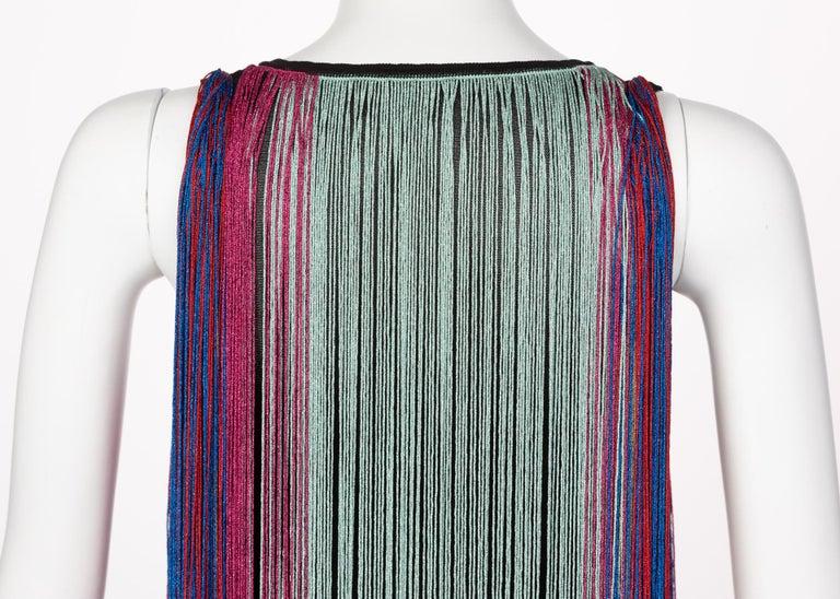 Roberto Cavalli Rainbow Fringe Maxi Dress, Resort 2017 For Sale 3