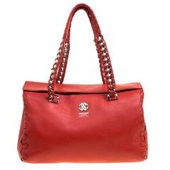 Roberto Cavalli - Kleine Regina Tasche aus rotem Leder