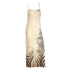Roberto Cavalli S/S 1999 Zebra Maxi Gown
