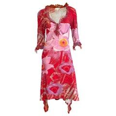 Roberto Cavalli S/S 2000 Floral Midi Dress