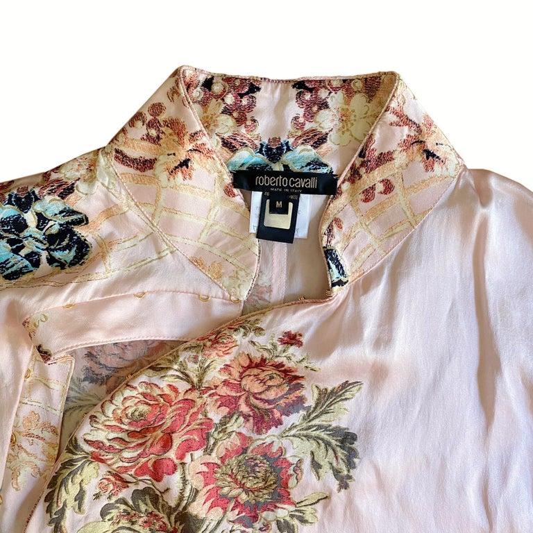 Roberto Cavalli S/S 2003 Blush Pink Cheongsam Inspired Dress 1