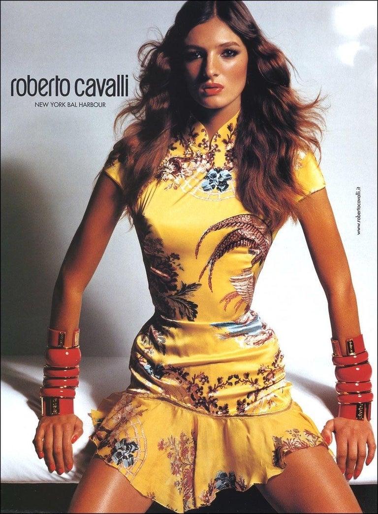 Roberto Cavalli S/S 2003 Blush Pink Cheongsam Inspired Dress 2