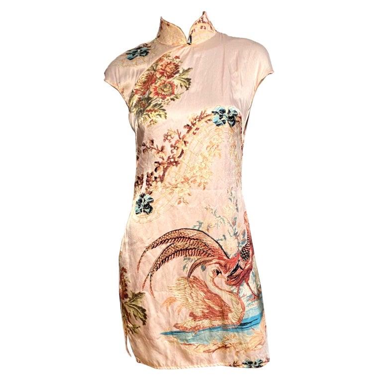 Roberto Cavalli S/S 2003 Blush Pink Cheongsam Inspired Dress