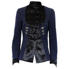 Roberto Cavalli Silk and Satin Jacket 42