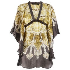 Roberto Cavalli Silk Chiffon Kimono Dress