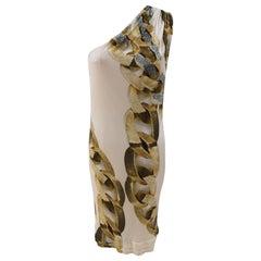 Roberto Cavalli Silk Jewel Dress