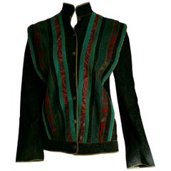 Roberto CAVALLI silk-screened, single piece leather vintage collection jacket