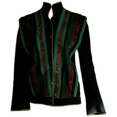 Roberto CAVALLI Silk-screened, Single piece Suede Vintage for Collection Jacket