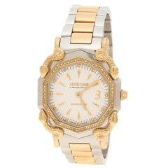 Roberto Cavalli Silver Cream Gold Plated Stainless Steel Diamonds by Frank Mulle
