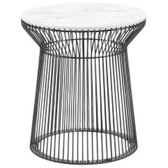 Wire.2 Outdoor Side Table in Marble Top by Roberto Cavalli Home Interiors