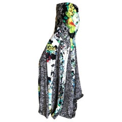 Roberto Cavalli Snake and Floral Pattern Voluminous Vintage Maxi Skirt 42