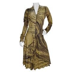 Roberto Cavalli Snake Print Dress