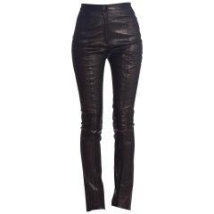 Roberto Cavalli Stretch Leather Pants