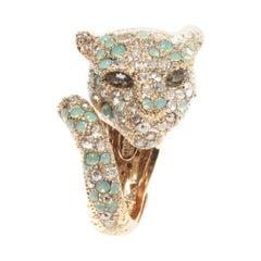 Roberto Cavalli Swarovski Panther Ring