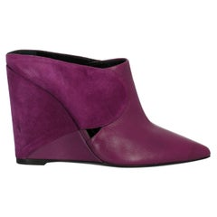 Roberto Cavalli Women  Mules Purple Leather IT 36