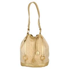 Roberto Cavalli  Women   Shoulder bags  Beige, Gold Eco-Friendly Fabric