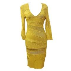 Roberto Cavalli Yellow Dress IT 40