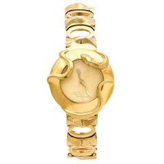 Roberto Cavalli Yellow Gold Plated Stainless Steel Snake Women's Wristwatch 37mm