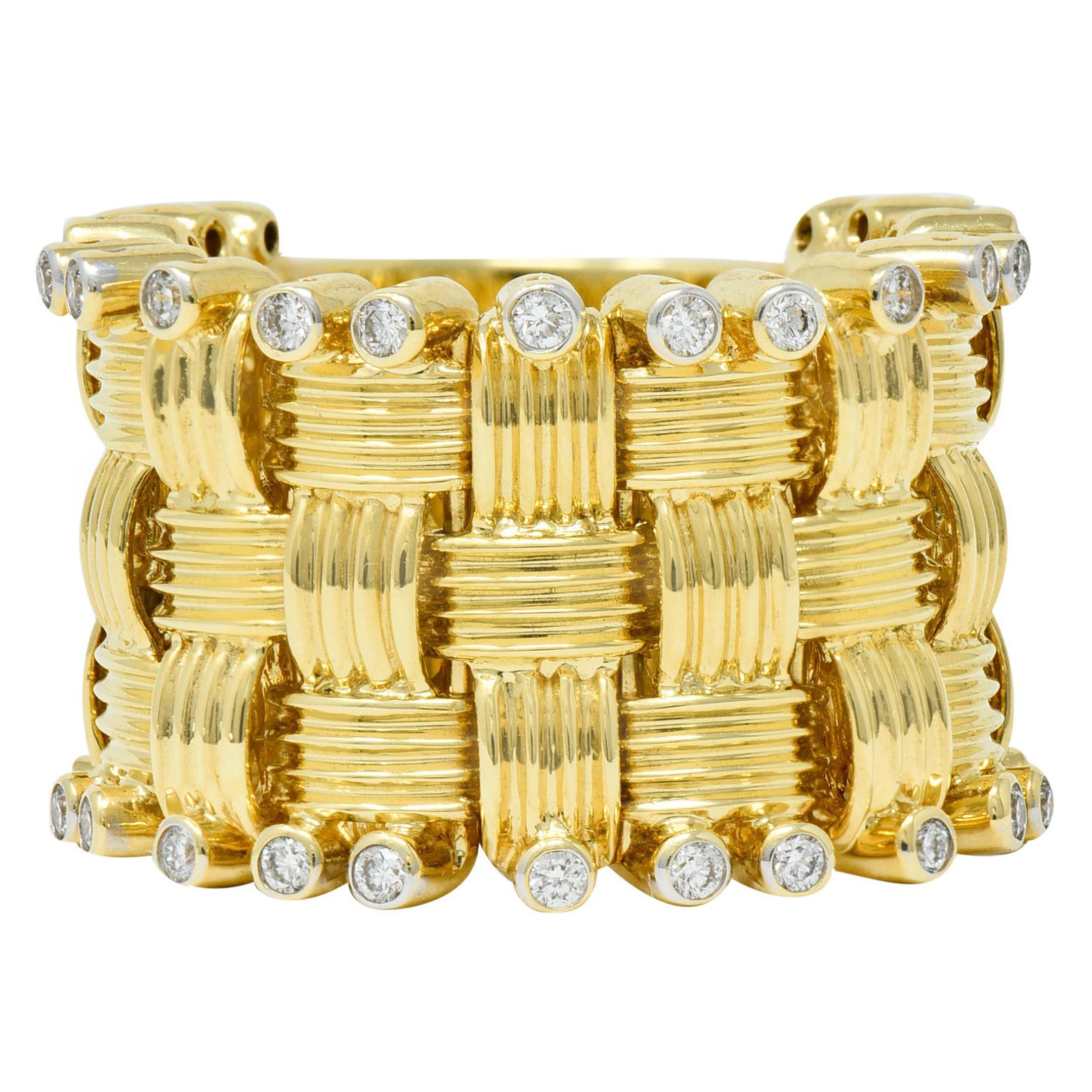 Roberto Coin 0.50 Carat Diamond 18 Karat Gold Flexible Appassionata Band Ring