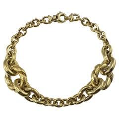 Roberto Coin 14 Karat Yellow Gold Link Bracelet