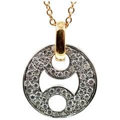 Roberto Coin 18 Karat Gold 0.45 Carat Diamond Pendant on 18 Karat Rose Chain