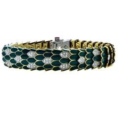 Roberto Coin 18 Karat Gold and Diamond Bracelet