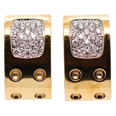 Roberto Coin 18 Karat Gold Pois Moi Diamond Earrings
