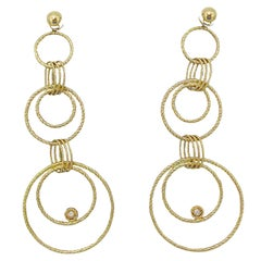 Roberto Coin 18 Karat Maureaque Collection Hoop Earrings