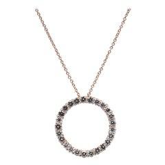 Roberto Coin 18 Karat Rose Gold Diamond Circle of Life Necklace