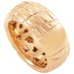 Roberto Coin 18 Karat Rose Gold Textured Band Ring