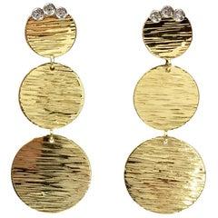 Roberto Coin 18 Karat Triple Disc Dangle Earrings